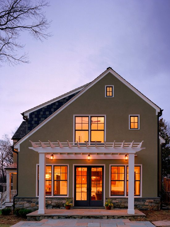The Saltbox S Distinctive Roofline Saltbox Houses Pergola Attached To House House With Porch