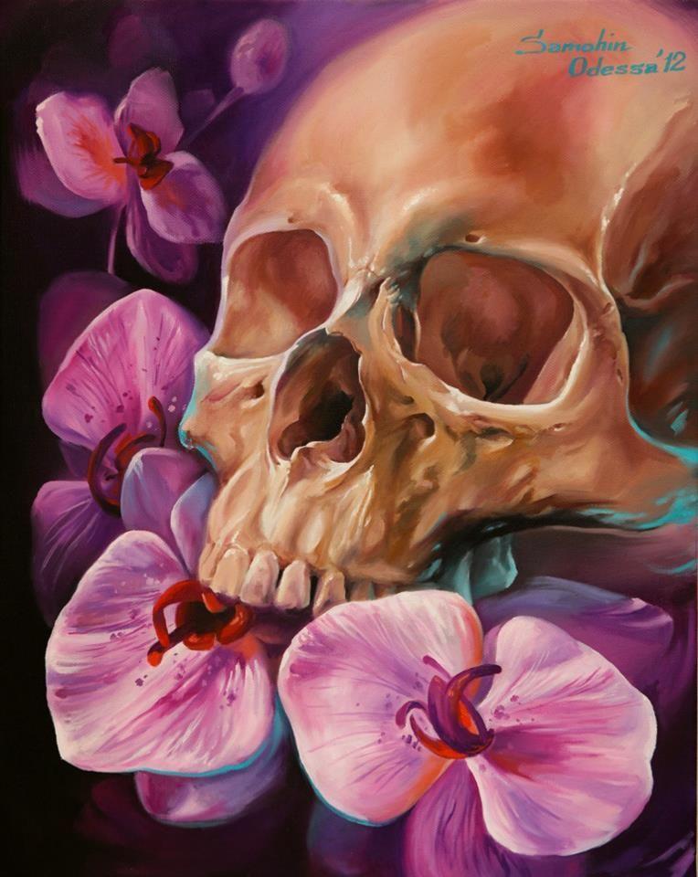 Creepy Spotlight : Photo | Skull painting, Skull pictures ...