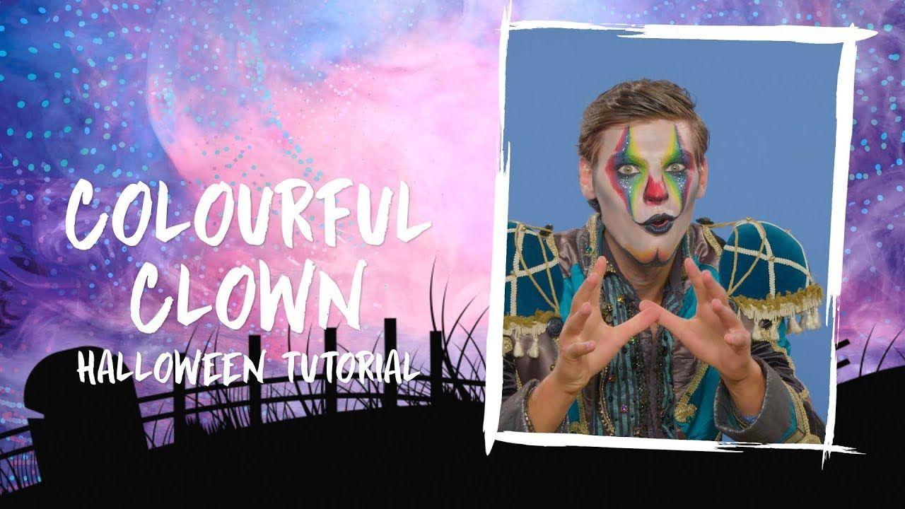 Colourful Clown Male Halloween Tutorial Halloween