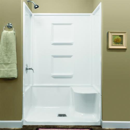 Lyons Linear 48 Right Hand Seated Shower At Menards Bathtub Shower Shower Base Locker Storage