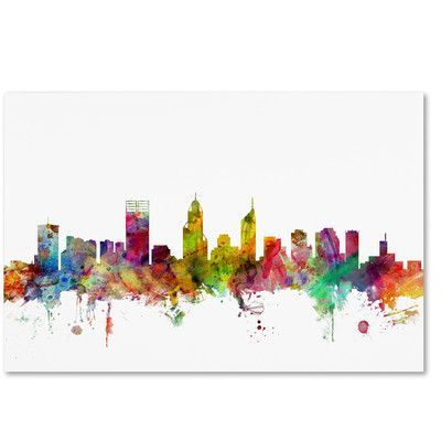 Trademark art perth australia skyline by michael tompsett graphic trademark art perth australia skyline by michael tompsett graphic art on wrapped canvas size gumiabroncs Image collections
