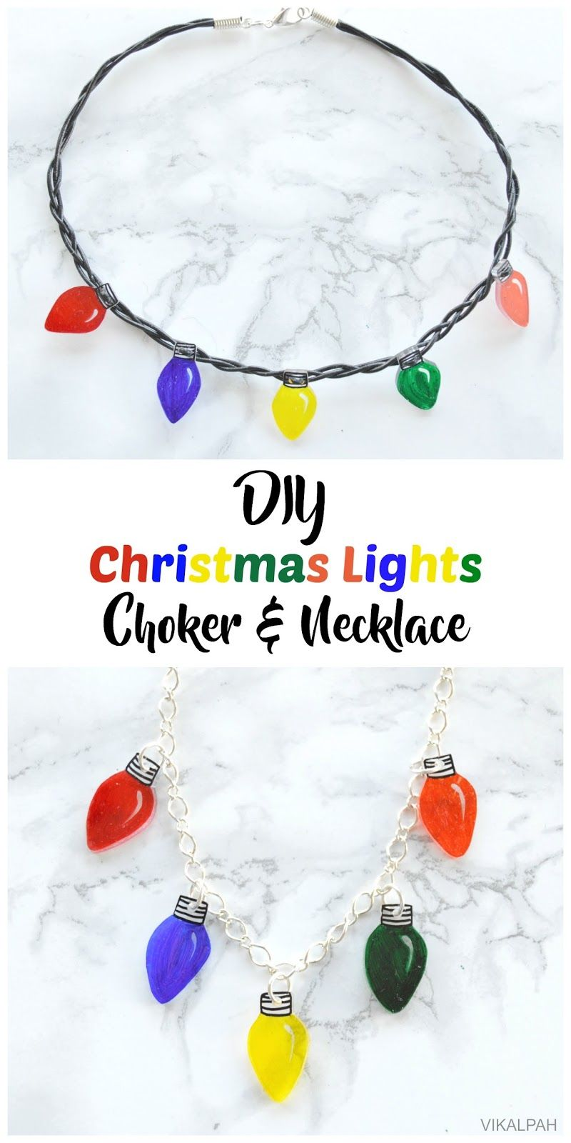 Christmas Light Necklace.Diy Christmas Lights Choker Necklace Pretty Pintastic