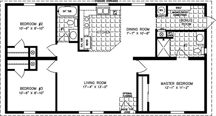 1200 square foot open floor plans Imperial IMP 45211B