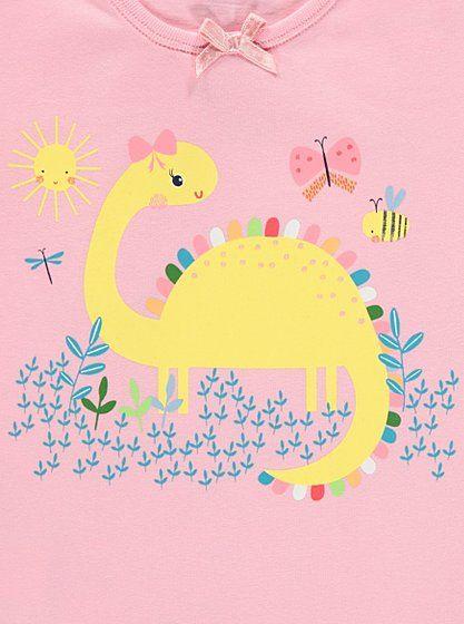 71090a404 2 Pack Dinosaur Print Pyjamas