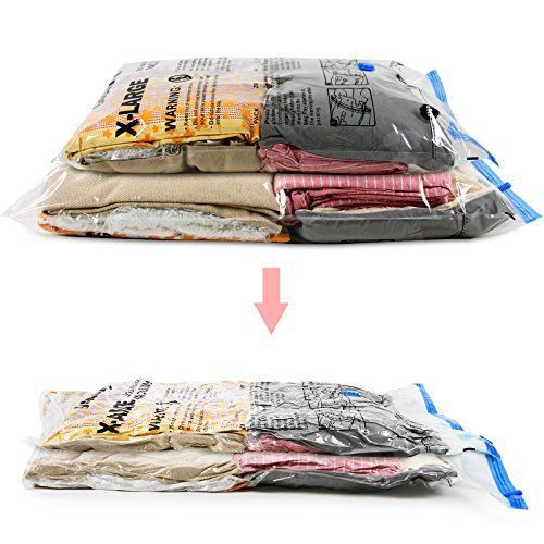 6-Pack-Space-Saver-Bags-Premium-Vacuum-Seal-Storage-Bags-for-Clothes -Blankets  sc 1 st  Pinterest & 6 Pack Space Saver Bags Premium Vacuum Seal Storage Bags for Clothes ...
