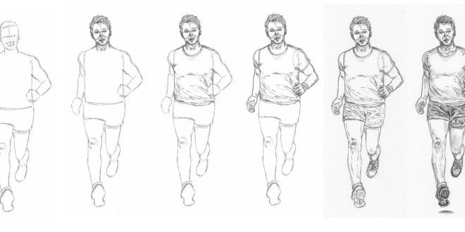 How To Draw A Man Running Drawing People Running Art Man Sketch