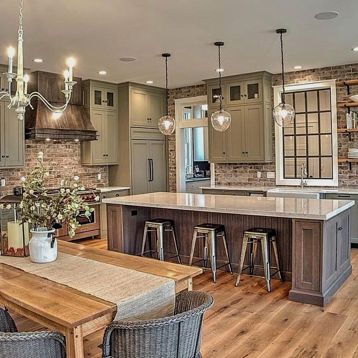 Rustic Kitchen Ideas in 2020   Modern farmhouse kitchens ... on Rustic:yucvisfte_S= Farmhouse Kitchen Ideas  id=87672