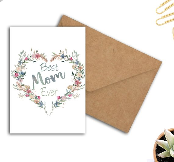 Best Mom Mum Ever Printable Mothers Day Card