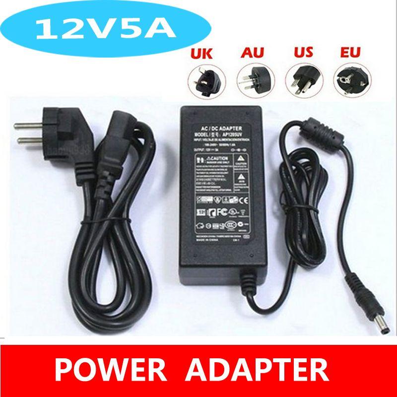 HOT 12V 60W AC Adapter Power Supply for LCD CCTV Camera LED Strip Light 12V 5A