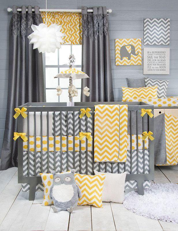 Popular Designer Print Grey Yellow Chevron Dot 100 Cotton 6 7 Pc