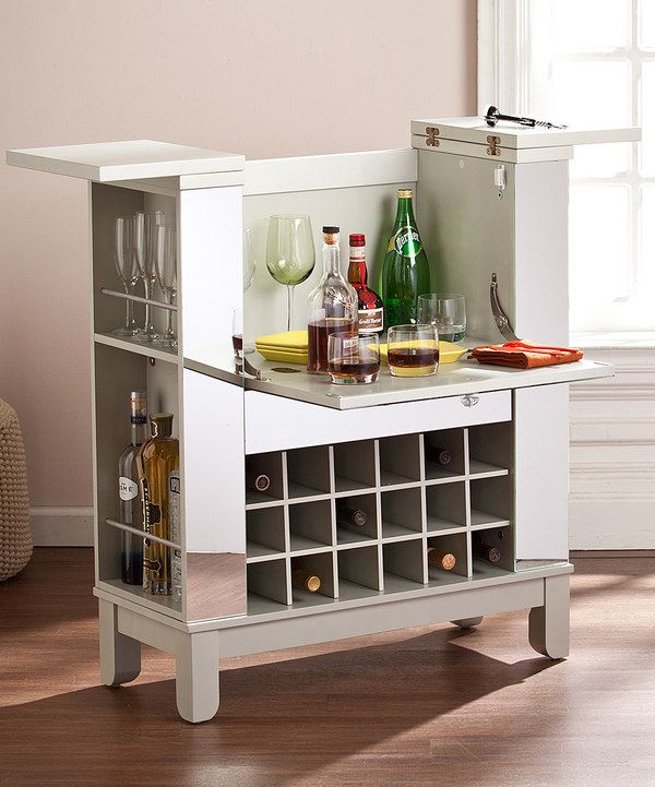Look at this Mirrored Fold-Out Wine Bar Cabinet on #zulily today!