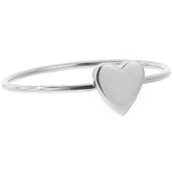 Jennifer Meyer Heart Stacking Ring White Gold 12 740 PHP