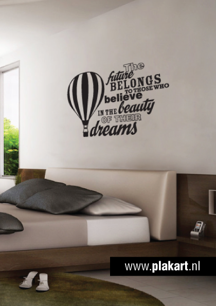 ontwerp muursticker muurtekst future slaapkamer