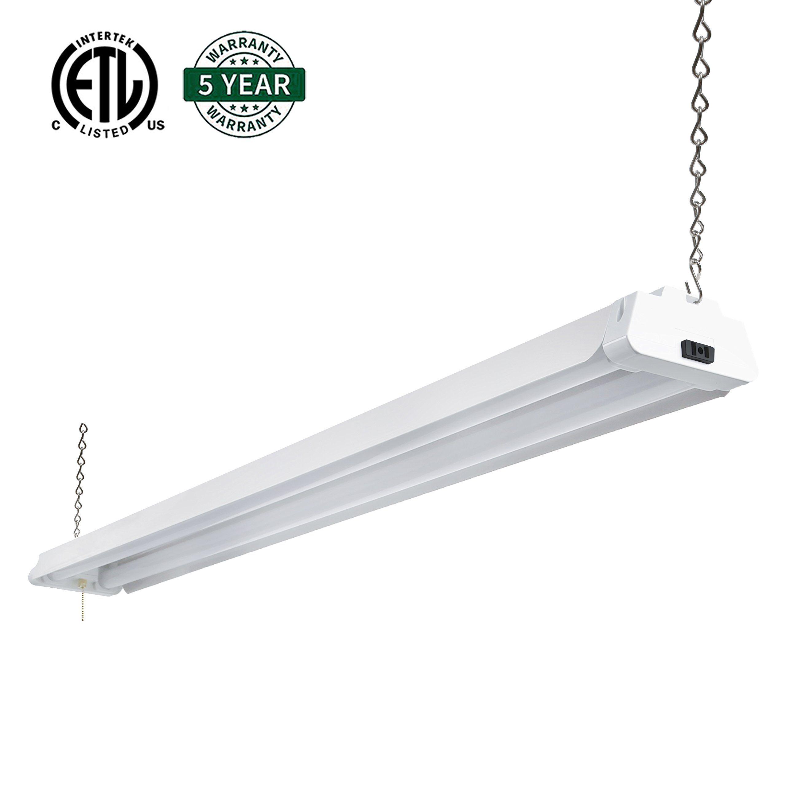 Hykolity 4ft 42 Watt Led Shop Light Garage Workbench Ceiling Lamp