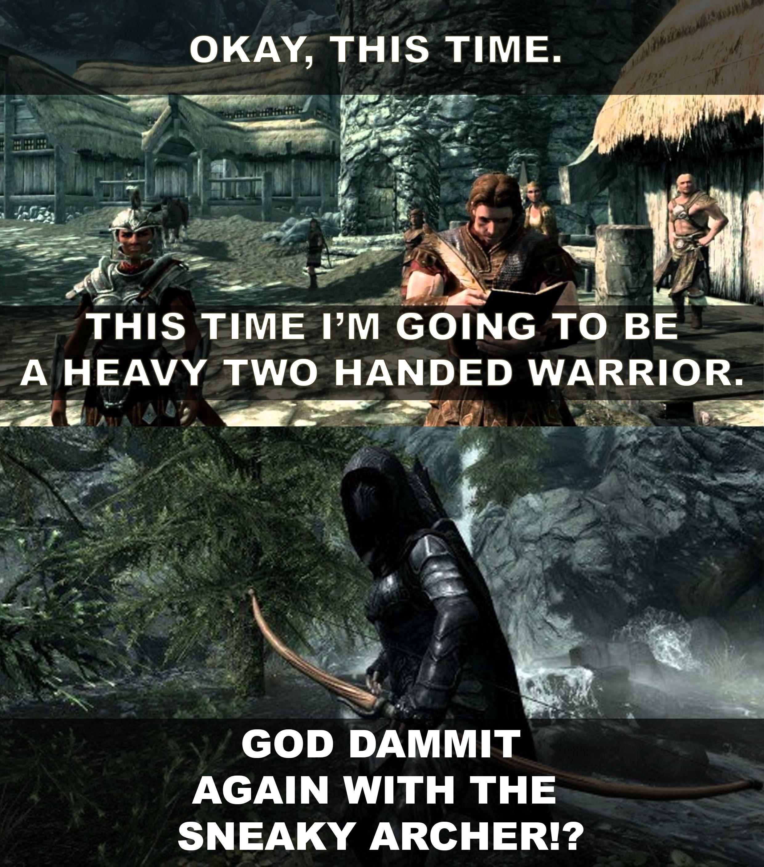 Everytime I start a new playthrough in Skyrim   Skyrim ...