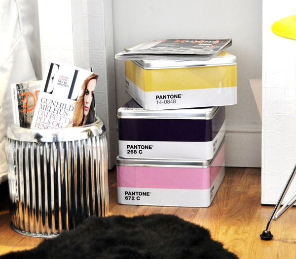 Pantone Storage Boxes are large, multi-purpose metal boxes measuring x x  that stack and store easily  but are so stylish you might not want to put  them ...