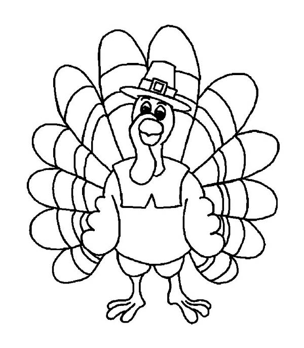 Friendly Thanksgiving Day Turkey With Pilgrim Hat Coloring Page Download Free Thanksgiving Coloring Pages Turkey Coloring Pages Thanksgiving Coloring Pages