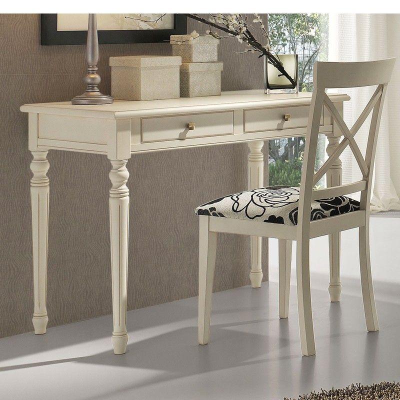 Mesa escritorio con 2 cajones patas torneadas haya diy furniture pinterest diy - Escritorio cajones ...