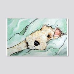 Napping Wire Fox Terrier 35×21 Wall Decal by Tailendproductions – CafePress