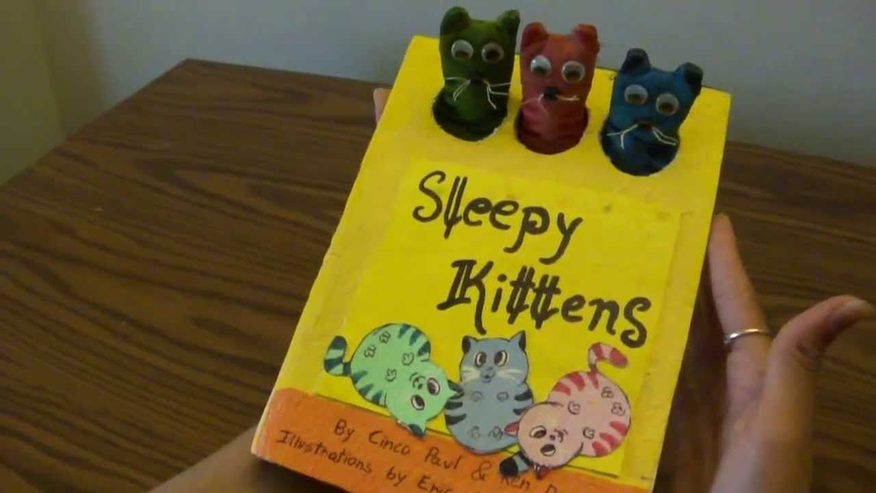 Homemade Sleepy Kittens Book Sleepy Kitten Quiet Toys Handmade Paper