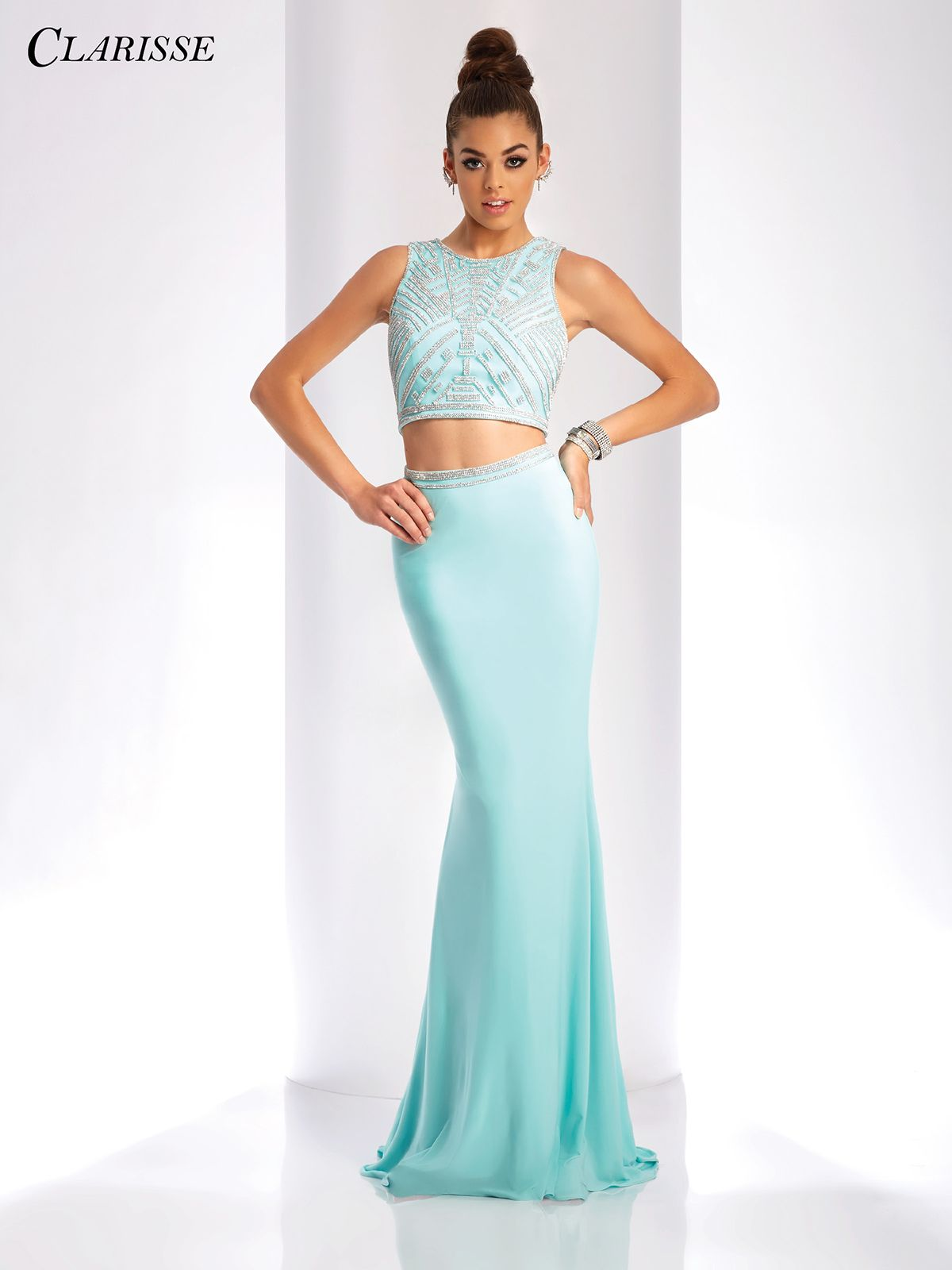 Embellished Two Piece Prom Dress 3438 | 3 Colors | Prom, Gatsby ...