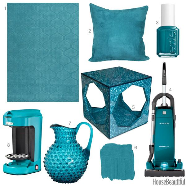 A vacuum, a pitcher, a side table, and more finds in teal.