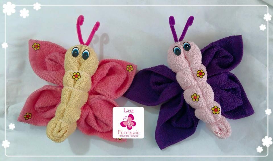 Mariposas bricolaje y manualidades pinterest for Animali con asciugamani