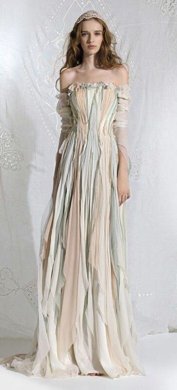 Ethereal Faerie Shabby Chic Handkerchief Hem Gown 71f707c835