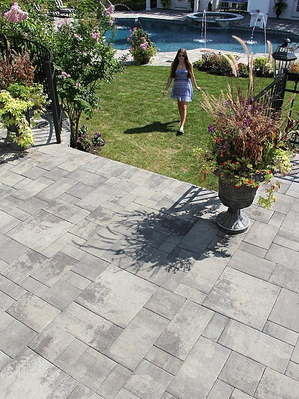 Decorative Patio Tiles Classy Nicolock  Stone Ridge Xl Granite City Blend Pavershield Decorating Inspiration
