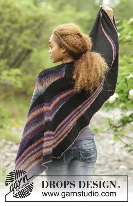 Tuch Colors in the Dark - Free Pattern by DROPS Design ...