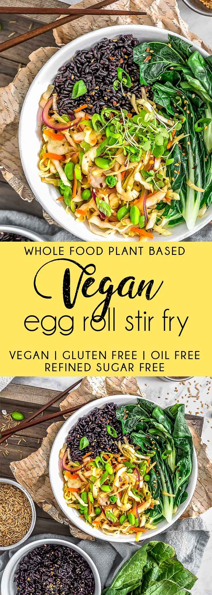 Vegan Egg Roll Stir Fry - Monkey and Me Kitchen Adventures