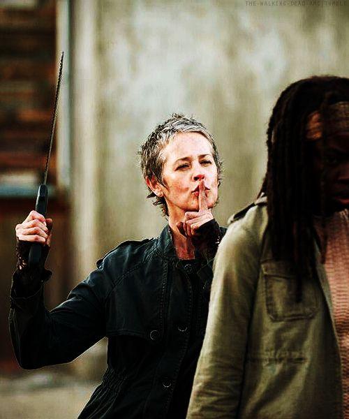 My favorite character off The Walking Dead. (Love her machete)