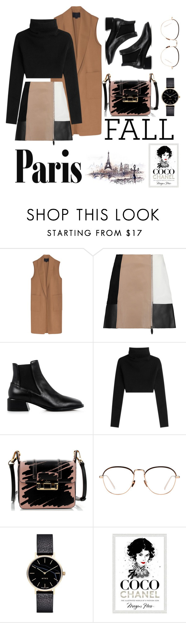 """AUTUMN IN PARIS"" by peace96-1 ❤ liked on Polyvore featuring Alexander Wang, TIBI, Valentino, Lanvin, Linda Farrow, Myku and Chanel"