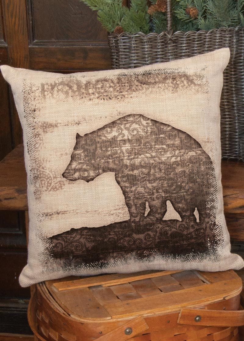 Alpine Woods Bear Pillow Cover Heritage Lace Pillows