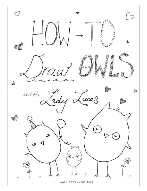 How to Draw Owls with Lady Lucas Printable by