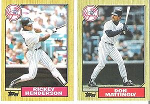 1987 Topps Yankees Stars Don Mattingly Rickey Henderson Ebay Deportes