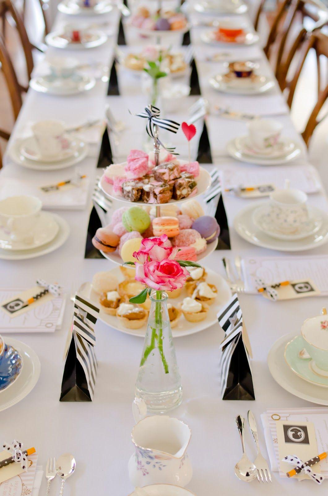 Lady Chatterley's Affair Bridal Shower High Tea Style
