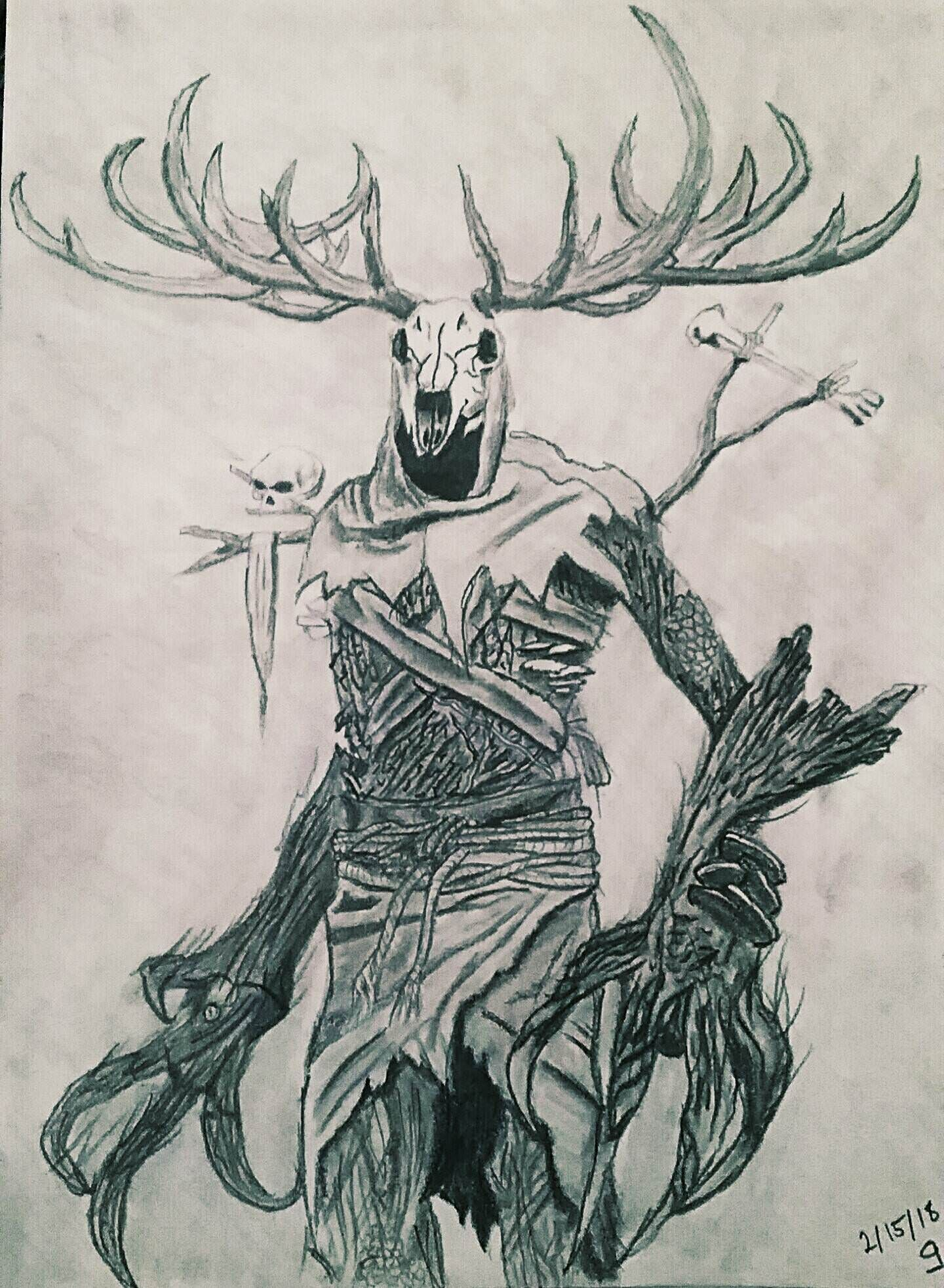 Leshen Guardian Of The Forest Thewitcher3 Ps4 Wildhunt Ps4share Games Gaming Thewitcher Thewitcher3wildhunt Scary Art Wendigo Monsters Sketches