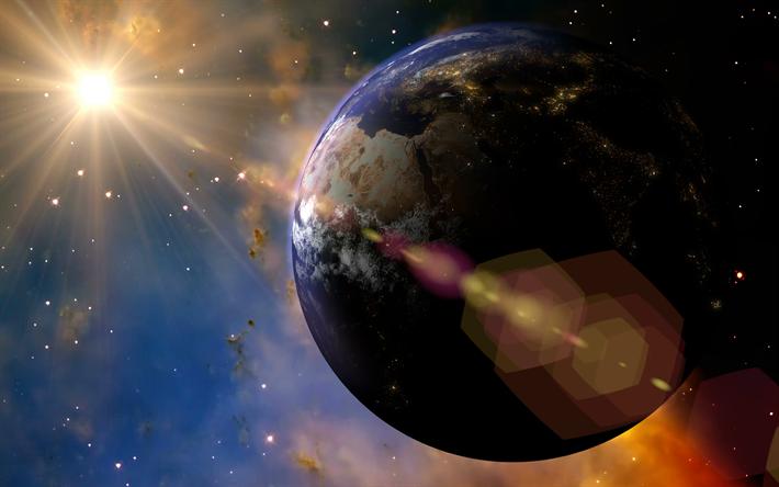 Scarica Sfondi Terra Pianeta Sole Spazio Aperto 4k Sistema