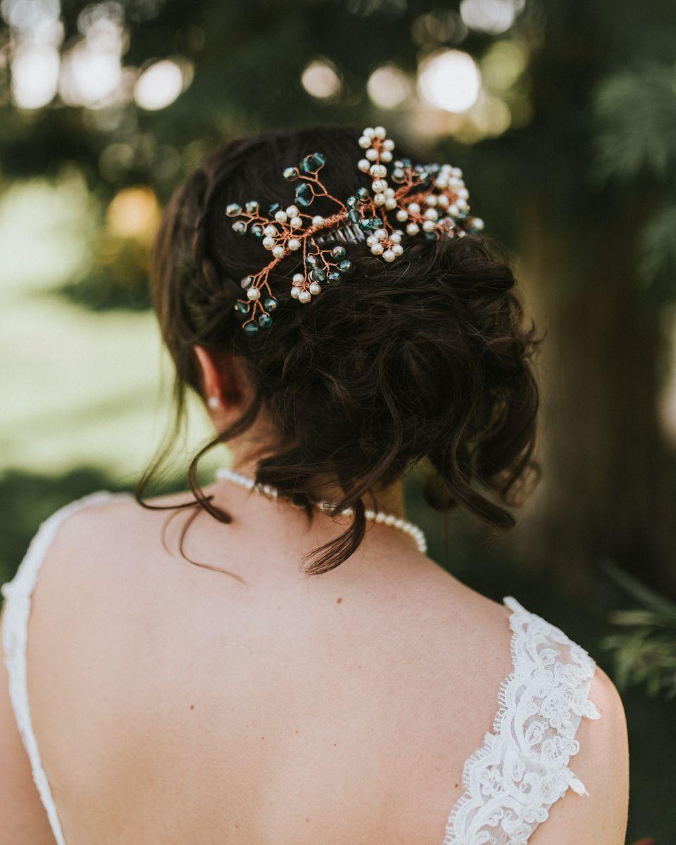 bridal hair pin inspiration || jessica mumm photography
