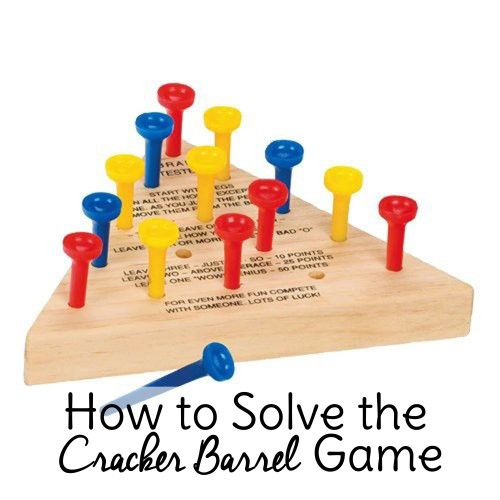 How to beat the cracker barrel tee game