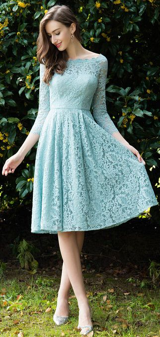 ac3b5af5db8 Long Sleeves Lace Green Mother Dress Short Formal Wear