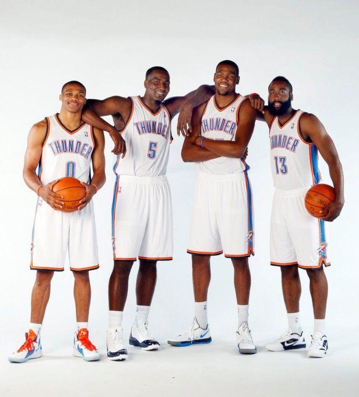 James Harden In Okc: Russell Westbrook, Kendrick Perkins, Kevin