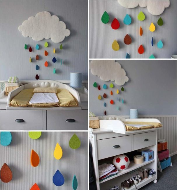 diy kids room decoration projects cute rainy clouds diy