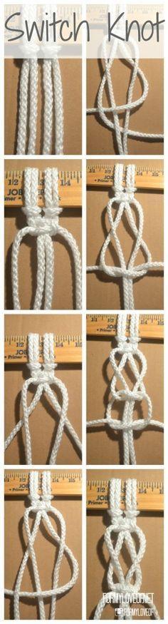 How To Macrame 5 Essential Knots Macrame Knots Macrame Plant