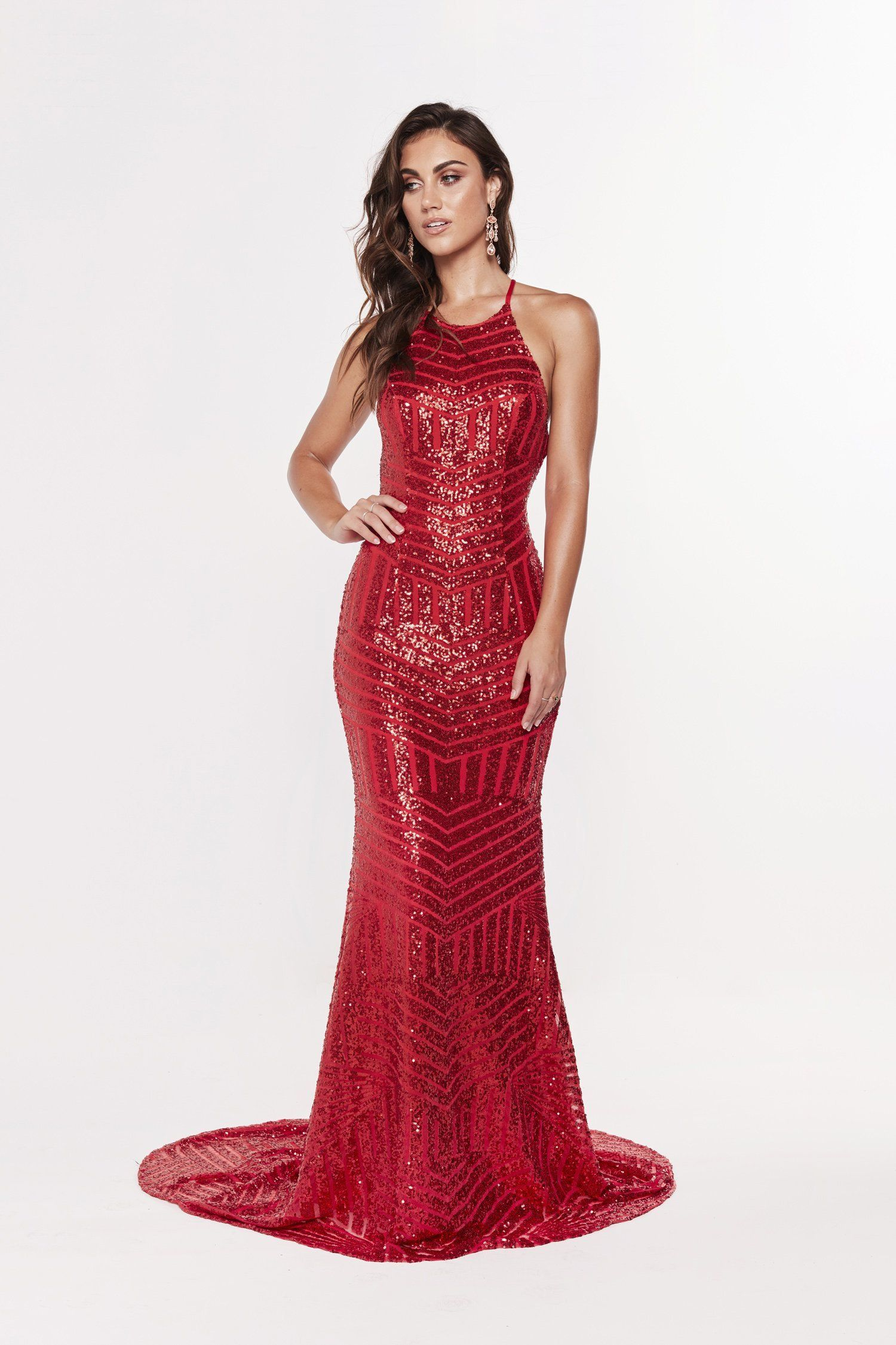 Red Sequin Prom Dress Prom Dress Short Lace Prom Dresses Long Lace Backless Prom Dresses [ 2250 x 1500 Pixel ]