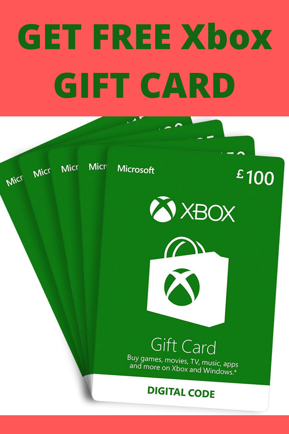 Free Xbox 100 Gift Card Codes in 2020 Xbox gift card