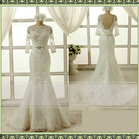 Hey, I found this really awesome Etsy listing at https://www.etsy.com/listing/174925662/new-whiteivory-lace-wedding-dress-bridal