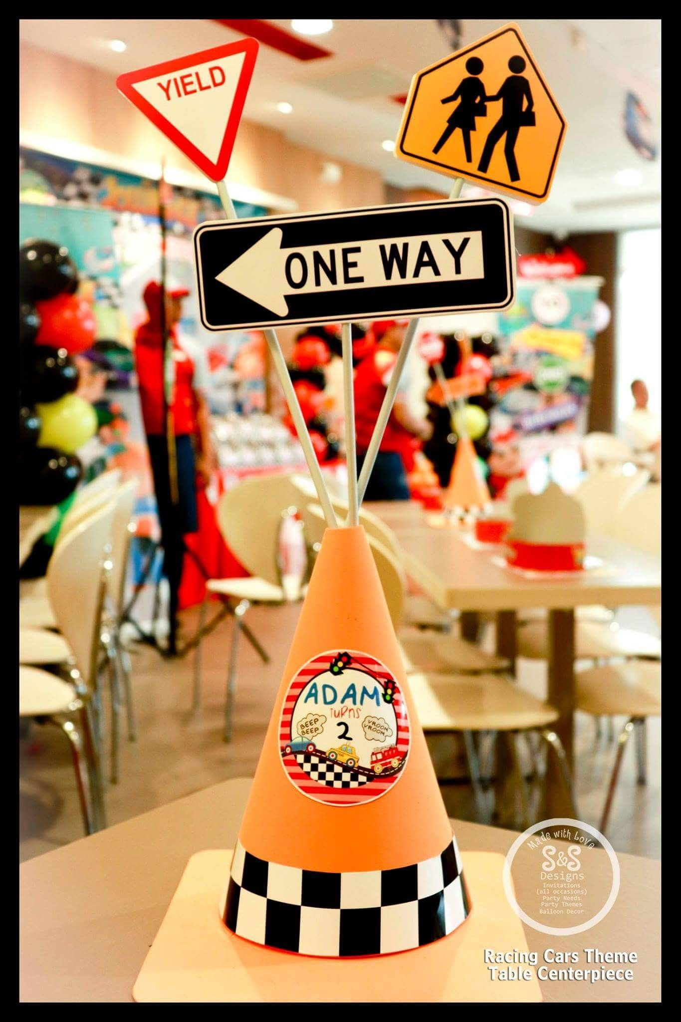 DIY Road Cones For Racing Cars Theme Party