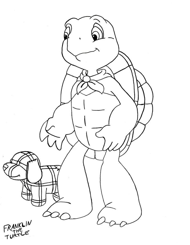 Franklin Turtle Coloring Sketch Free Download Http Colorasketch